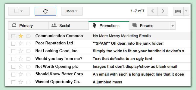 HTML marketing emails