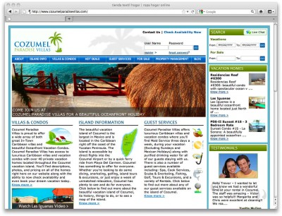 Cozumel Paradise Villas online marketing