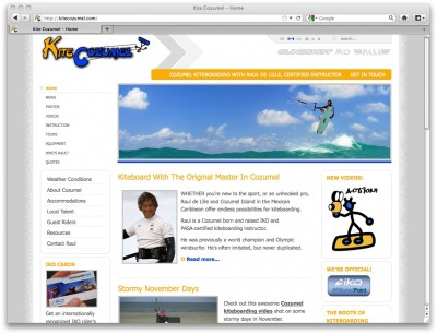 Mexico Kiteboarding website
