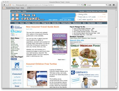 This is Cozumel website