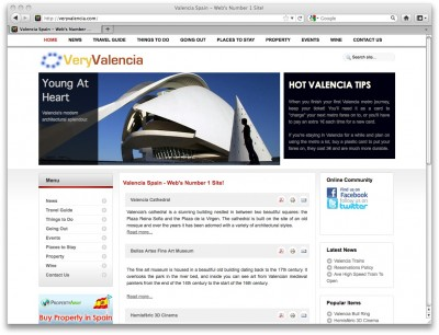 Very Valencia website